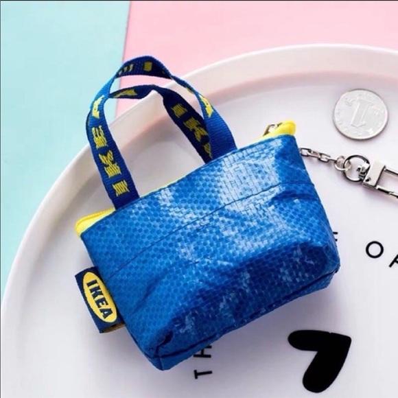 IKEA Mini Shopper Bag Coin Purse Keychain KNÖLIG